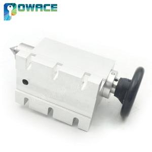 Image 5 - [האיחוד האירופי משלוח] K12 100mm 4 לסת צ אק 100mm CNC 4th ציר (aixs, ציר סיבובי) & Tailstock עבור מיני CNC נתב/נגרות engravin