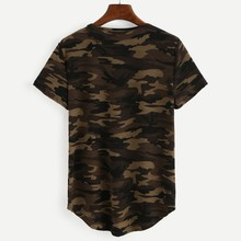New CasualWomens Summer Camouflage Printed Short Sleeve O-Neck T-Shirt Army Camo Cotton Blend Tee Tops