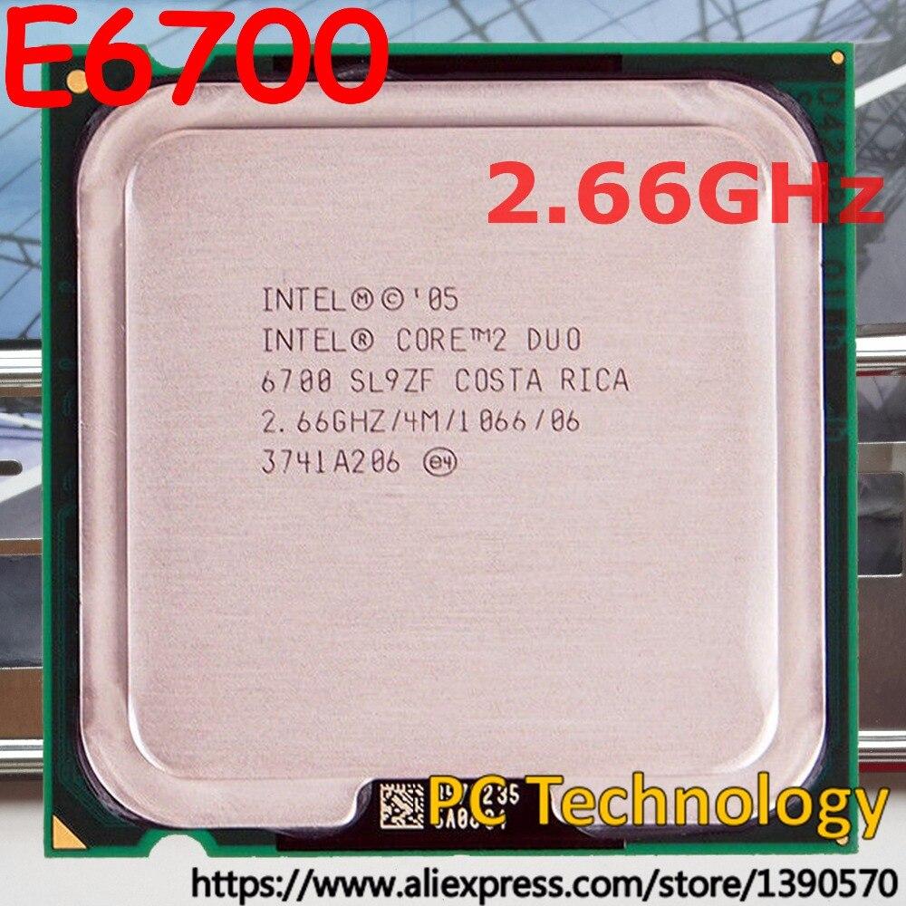 Intel processador core, processador intel core duo 2 e6700 socket 775 cpu 2.66 ghz 4 m 1066 mhz frete grátis (navio fora dentro de 1 dia) 100% bem teste