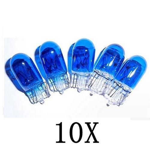 NEW 10Pcs/Lot T10 12V 5W Super Bright White Xenon Halogen Bulbs Lamps for Car Auto