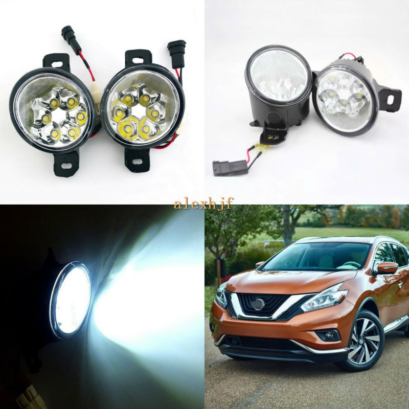 July King 18W 6LEDs H11 LED Fog Lamp Assembly Case for Nissan Murano 2015~ON,  6500K 1260LM LED Daytime Running Lights july king 18w 6leds h11 led fog lamp assembly case for nissan versa 2012 on 6500k 1260lm led daytime running lights