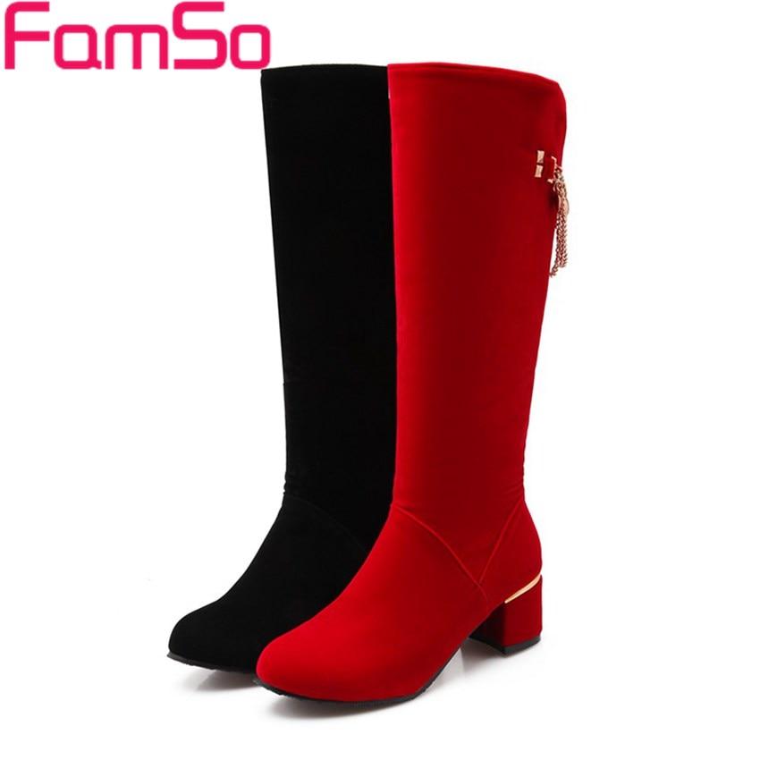 Plus Size34 43 2016 new Sexy font b Women b font Boots Black Spring High Heels