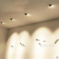 Z moderno Criativo LEVOU arte lâmpada do teto 5 w holofotes luzes de Parede para sala quarto loja de roupas decoração de Exposições de iluminação