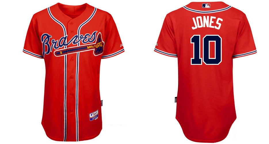 huge discount 62e30 168f3 10 chipper jones jersey