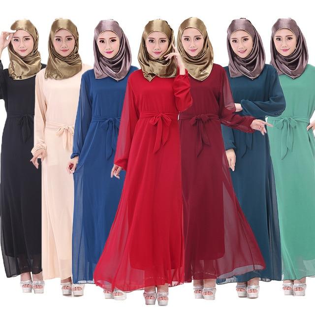 f498e9068 موضة فساتين ماليزيا مسلمة المسلمات الملابس كود اللون كبير الحجم مع حزام  بقعة لوس musulmanes la