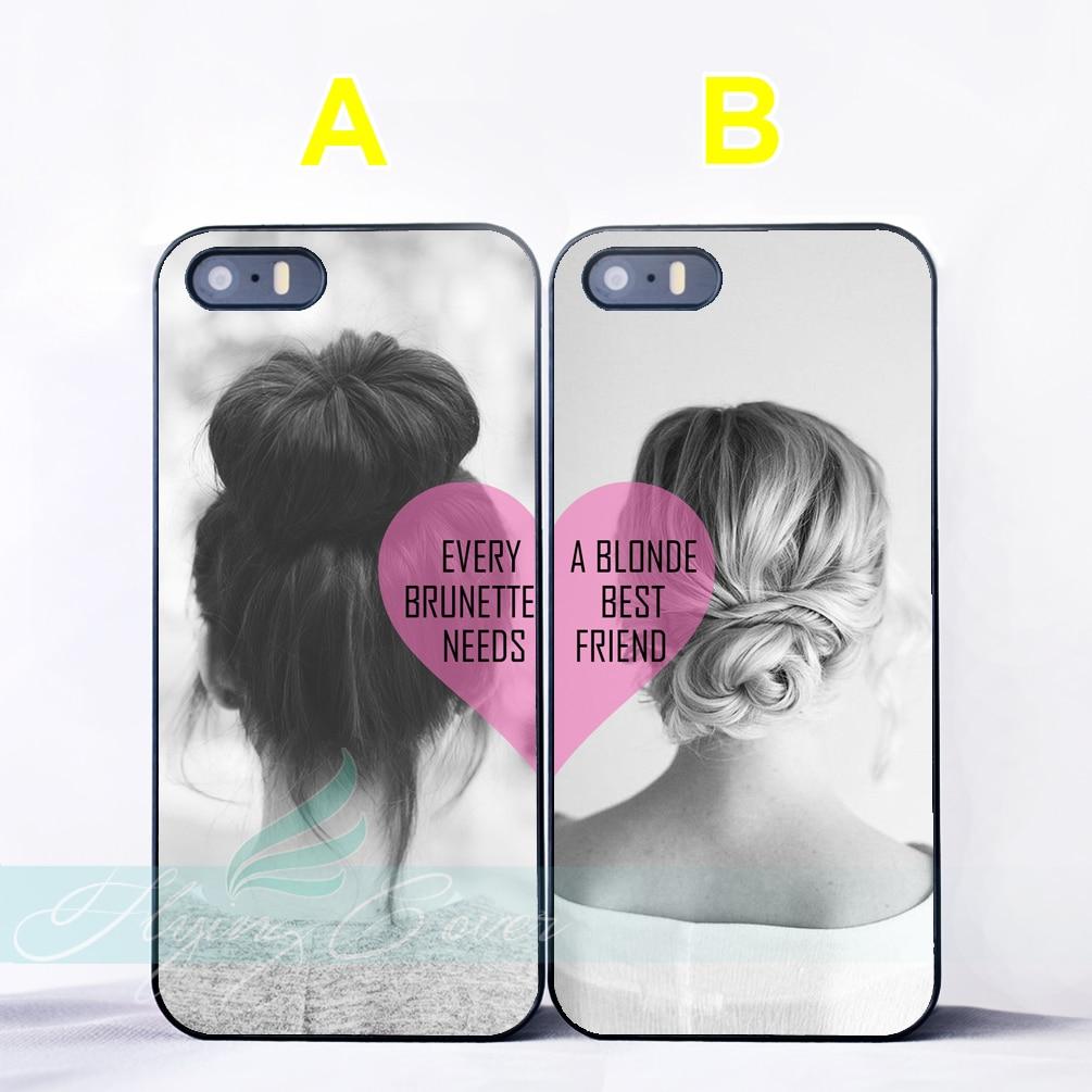 Coque Brunette Blonde Hair Bff Best Friend Couple Cases