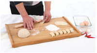 free shipping High quality bamboo Large panel chopping block panel kitchen knife plate set 3colours available