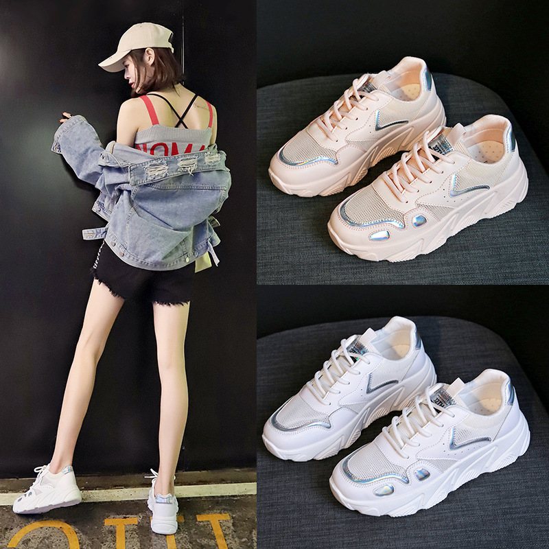 Flat shoes women 2019 new summer mesh breathable Korean version of ulzzang Harajuku wild casual ladies sneakers in Women 39 s Flats from Shoes