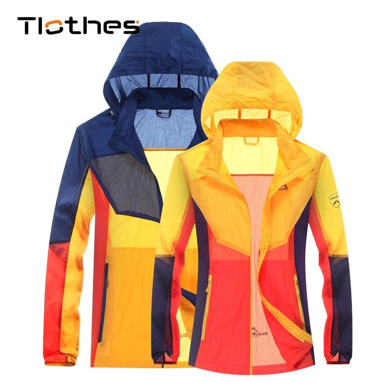 Windproof Waterproof Jackets Womens Summer Sup Hoode Jacket Women Men Breathable Skin Thin Jackets And Coats Windbreaker M-3XL