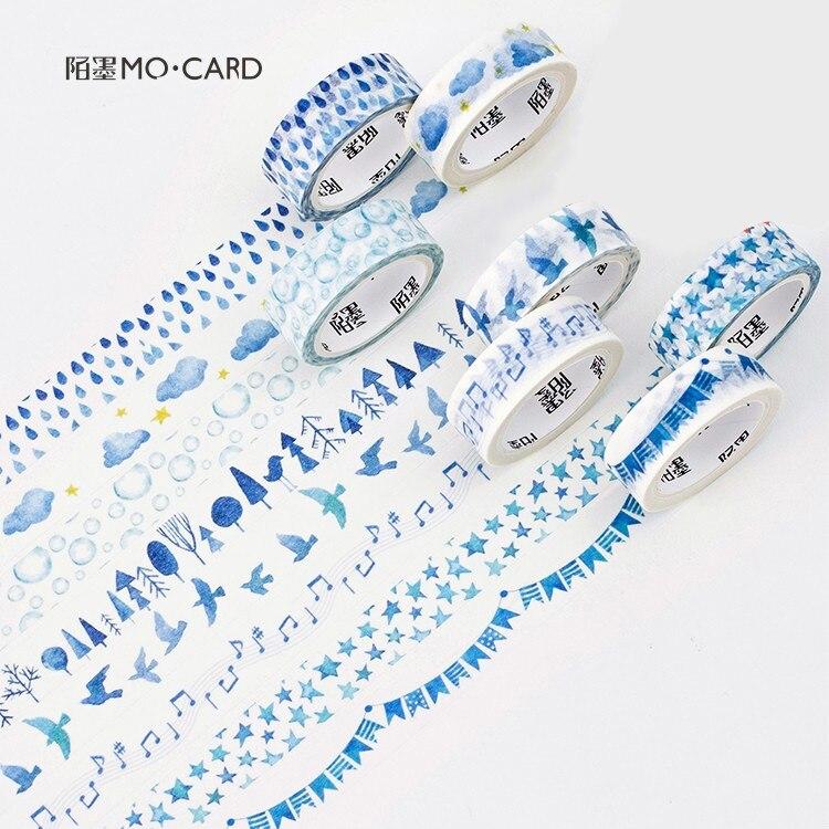 Blau Leben Dekorative Masking Washi Tape Japanischen Schreibwaren Scrapbooking Nette Büro Liefert