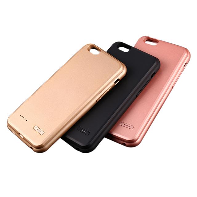 Recargable caso de carga para iphone 6 plus 6 s caso del cargador de energía extra caja de batería para iphone 6 plus 6 s plus 6 s para iphone 7
