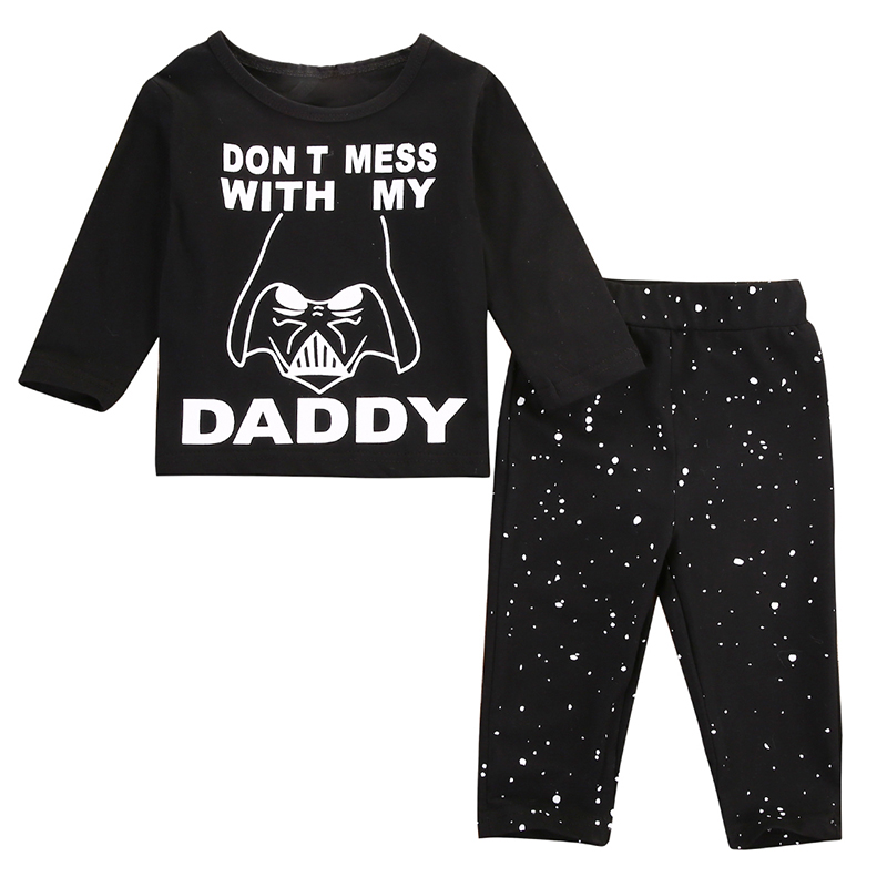2017 Newborn Baby Boys Girls Outfits Clothes O-Neck Tops Long Sleeve T-shirt Black Pants Leggings Set For Infant Boys soft solid kids boys t shirt candy color long sleeve baby girls t shirts cotton children s t shirt o neck tee tops boy clothes