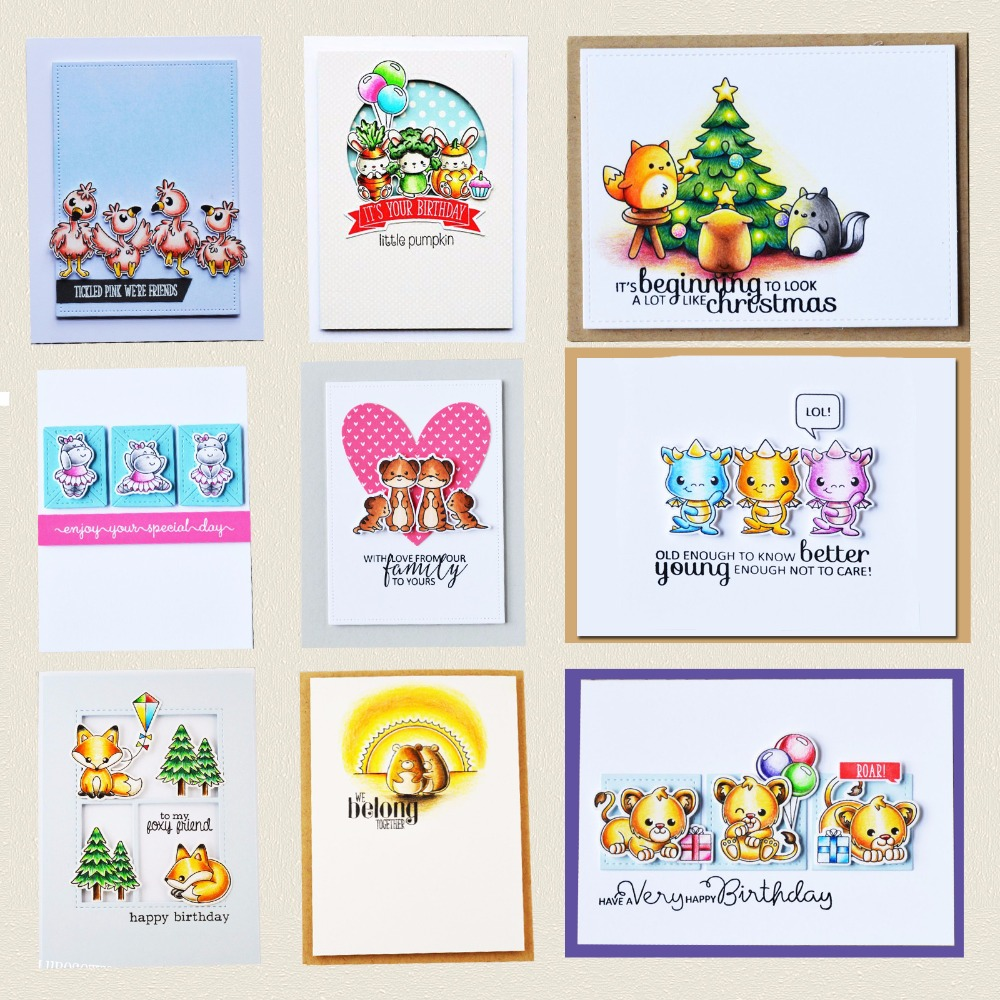 AZSG Meng Pet Transparent Clear Silicone Stamp/Cutting Dies for DIY Scrapbooking/photo Album Decorative Clear Stamp Sheets