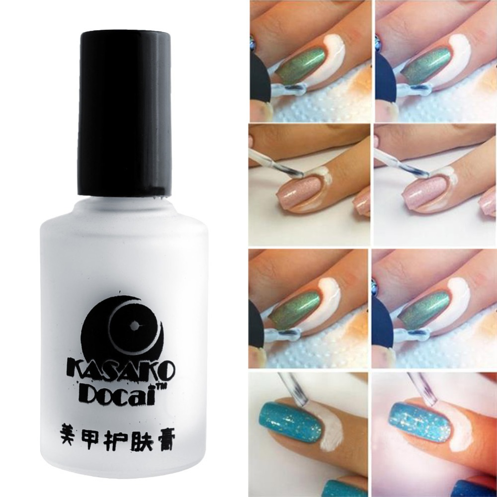 Aliexpress White Pink Nail Polish Art Tape Latex Finger Skin Protected Glue Easy Tear Base Coat Care Palisade Cuticle Cream From
