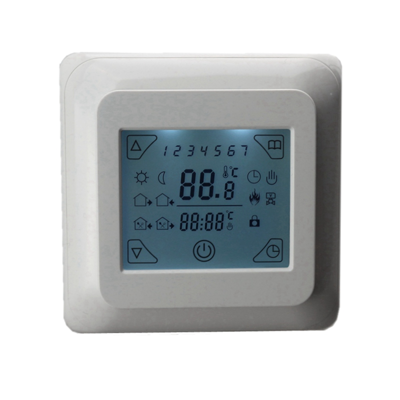 Digital Temperature Controller Moduel AC 230V 16A Room Air Floor Heating Thermostat LCD Touch Screen + Cable Weekly Programmable 6 1 programmable eu floor heating thermostat room temperature controll with lcd touch