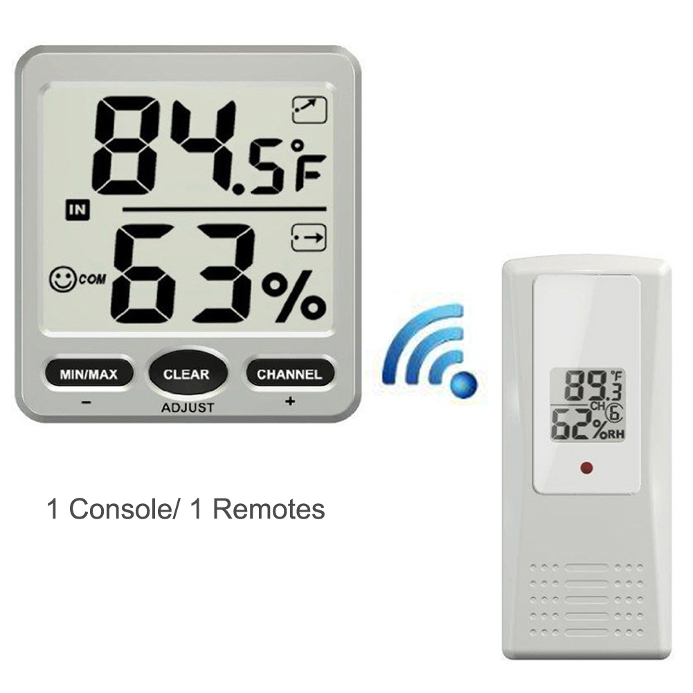 Ambient Weather Wireless LCD Digital Thermometer Hygrometer Indoor/Outdoor 8 Channel Thermo Hygrometer hygrometer digital thermometer bt 2