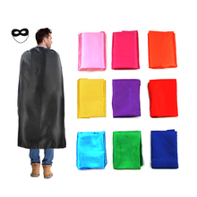 superhero capes double layer no printing with masks for adults parents famliy halloween party 140cm*90cm