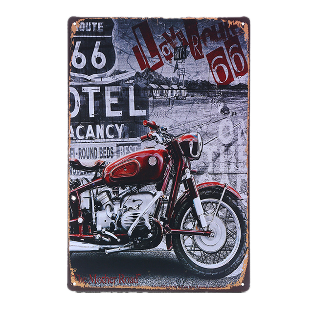 Vintage Cars and Motorcycles Metal Plaque