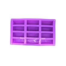 12 Cavities Silicone Mold For Loaf Cake Baking Cuboid Chocolate Gumpaste Candy Bar Ice Cube Tray Handmade Soap Forms