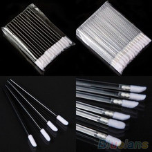 50Pcs Disposable Lip Brush Cosmetic Lipstick eyelash makeup brushes Gloss Wands Applicator Makeup Tool Pretty brochas maquillaje(China)