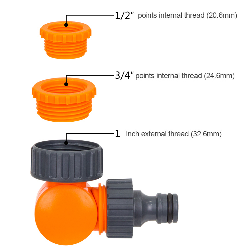 Quick Connector Rotatable Water Tap Splitter Irrigation Agriculture Quick Water Connector Water Control Valve 1/2 Inch 3/4 Inch