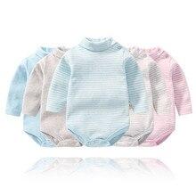 Одежда для малышей 2018 весна и осень Новый комбинезоны для новорожденных маленьких мальчиков девочек Ползунки Одежда с длинным рукавом