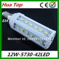 Lampada Chistmas lights  E27 E14 110~130V 12W 42 Led 5630 5730 epistar smd led bulb lamp Cold White/Warm White solar Led lights