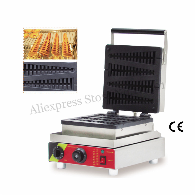 4 Molds Electric Lolly Waffle Machine 1.5KW Commercial Tower-shape Long Cake Maker for Restaurants Snack Street4 Molds Electric Lolly Waffle Machine 1.5KW Commercial Tower-shape Long Cake Maker for Restaurants Snack Street