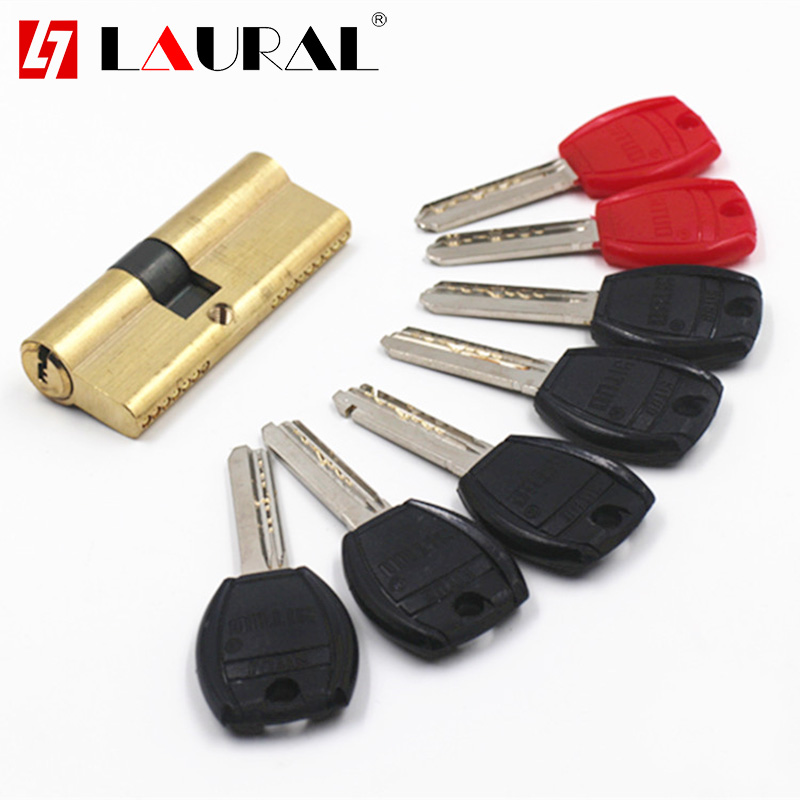 Eccentricity 65 70 80 90 95 100 110mm Lock Cylinder AB Key Anti-Theft Pure Brass Gate Door Lock Handle Bedroom Extended