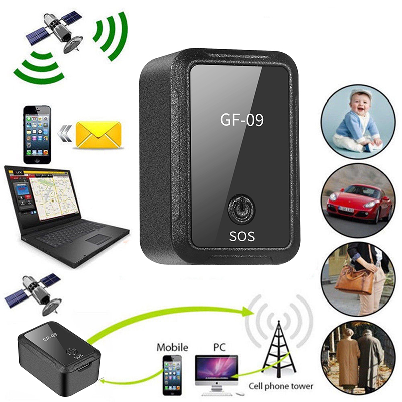 GF-09 Mini GPS Tracker Vehicle Tracing Device Free Installation GPS Tracking Locator Personal Tracking Object Anti Lost Tracer