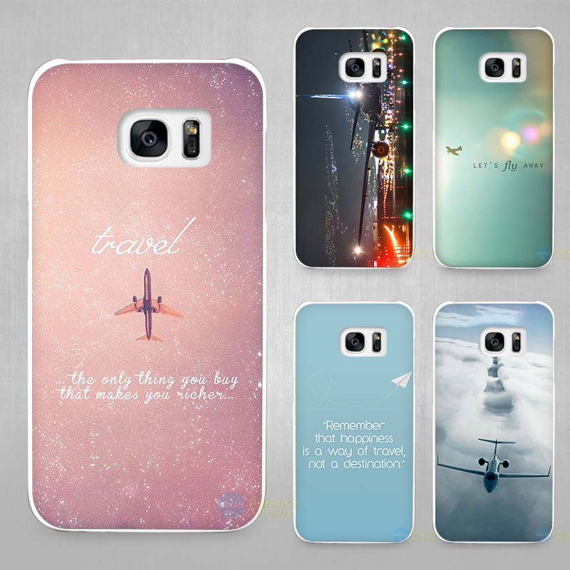 pink travel aircraft aircraft hard white coque shell case cover phone phone cases for. Black Bedroom Furniture Sets. Home Design Ideas