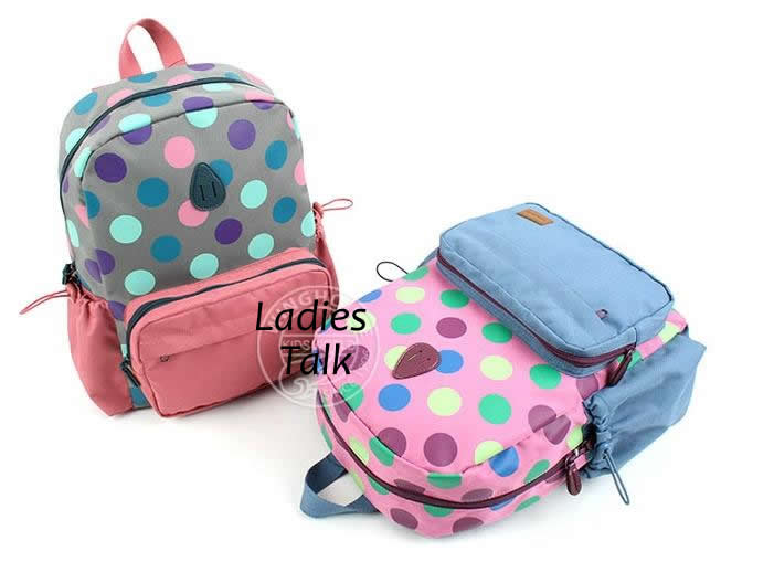 54a7b3077a Cute Polka Dot School Bag for Girls Children Backpacks Preschool  Kindergarten Toddler Mochilas School Kids Book Bag Zaini Scuola-in School  Bags from Luggage ...