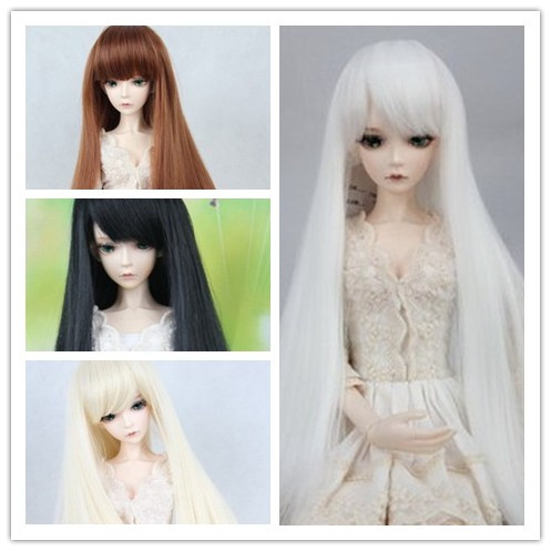 BJD SD doll wigs cos cosplay long straight hair wig - 1/3 1/4 1/6