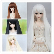 BJD SD кукла парики cos косплей длинные прямые волосы парик-1/3 1/4 1/6