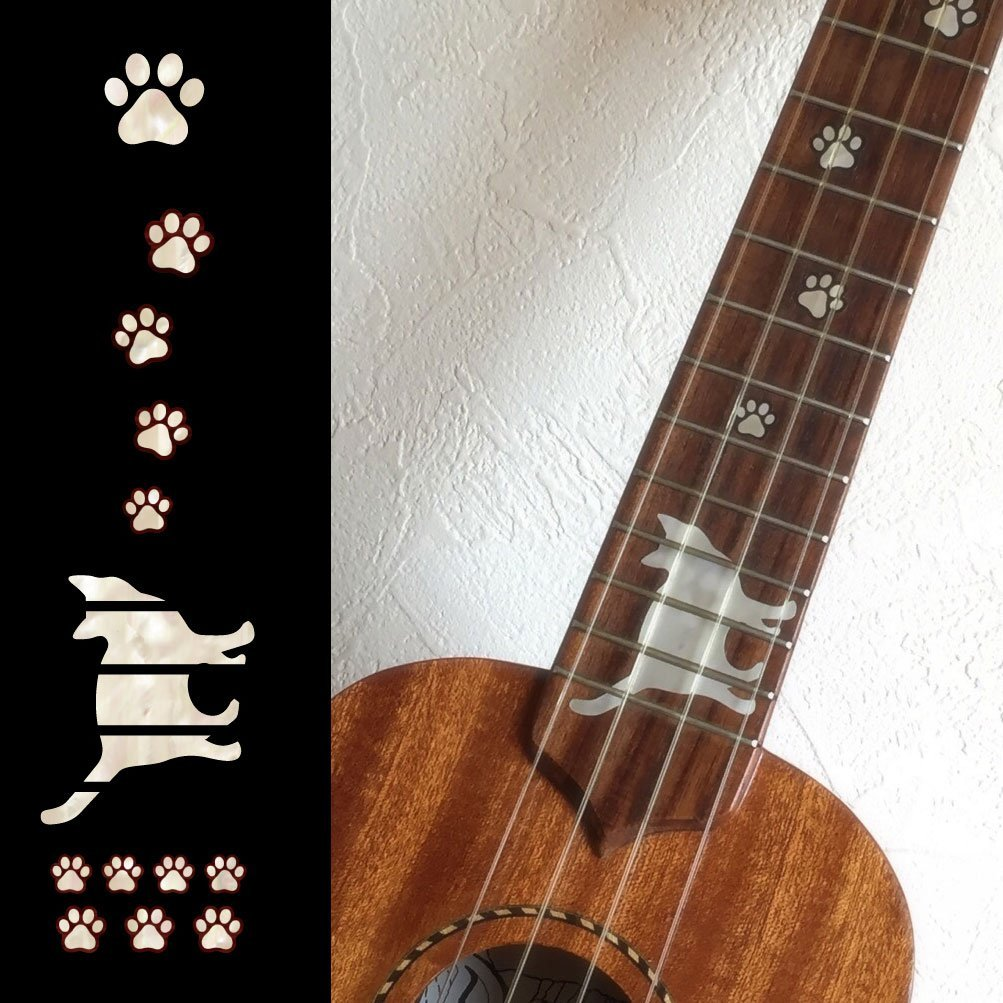 Fret Markers Inlay Stickers Decals for Ukulele - Soprano/Concert/Tenor,  Cat Foot Print / Cat Paws a classic concert cat stevens tea for the tillerman live