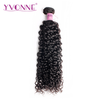 Yvonne Malaysian Curly Virgin Hair Bundles 1/3 Piece Natural Color Human Hair Weave 8 28 Inches