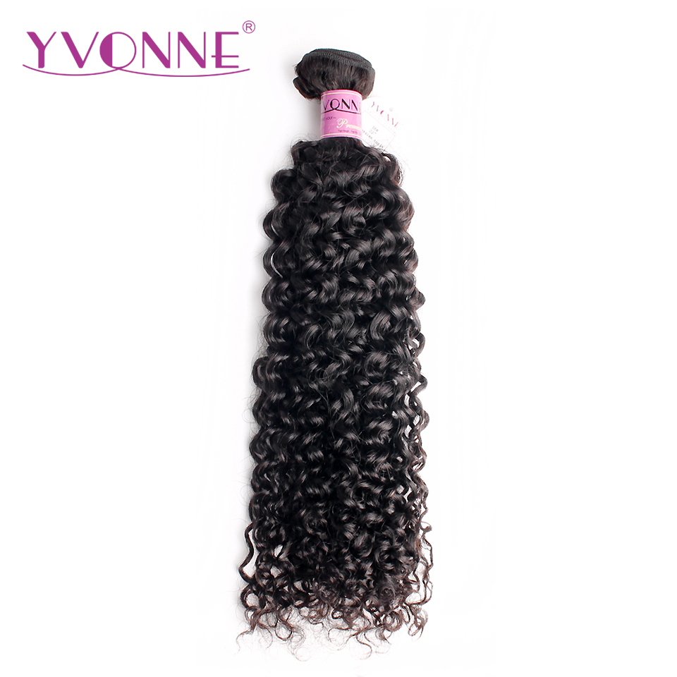 Yvonne Malaysian Curly Virgin Hair 1 Piece Natural Color 100% Human Hair Weaving Free shipping
