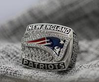 2011 New England Patriots NFC FOOTBALL Championship Ring 7 15 Size Copper Patriots Logo Engraved Inside