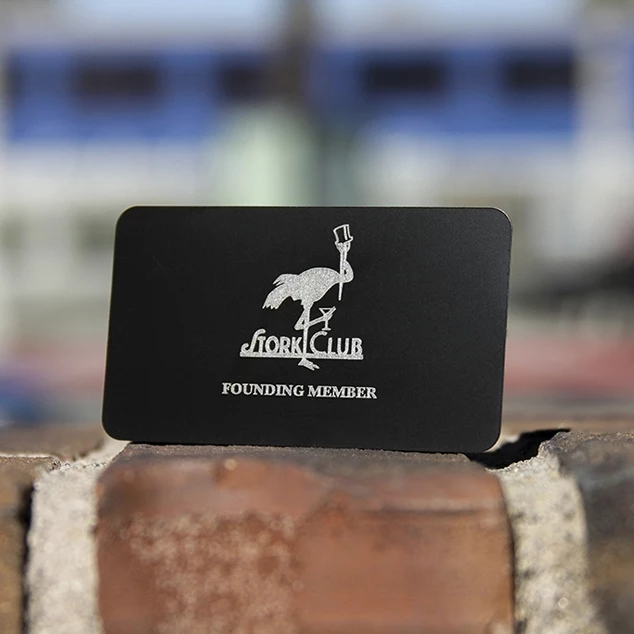 Stainless Steel Electroplate Matte Black Metal Business Card