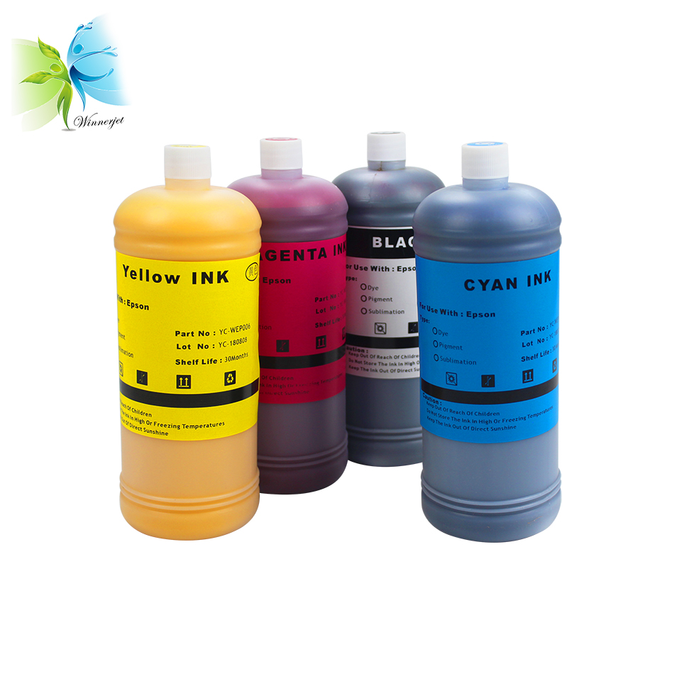 Winnerjet 4 Colors 1000ml Dye Ink for Epson Stylus D78 D92 D120 DX4000 DX4050 DX5050 Printer in Ink Refill Kits from Computer Office