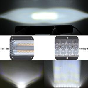 Image 3 - Barra de luz Led de 20 pulgadas Combo de inundación para camiones de carretera, barco, SUV, ATV, 4WD, 4x4, Flash estroboscópico de ámbar blanco, luces de trabajo de conducción