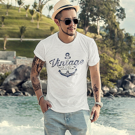 100% Cotton T Shirt Men Casual Soft Fitness Shirt Men T Shirt Tops Tee Shirts O Neck Short Sleeve Tshirt Men T868