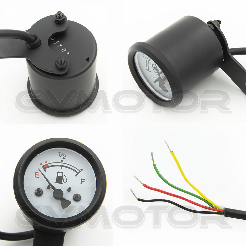 Led Fuel Gauge Wiring Electrical Diagrams Jeep Comanche Diagram Aliexpress Com Buy Vintage Classic 4 Wires Waterproof Black Auto