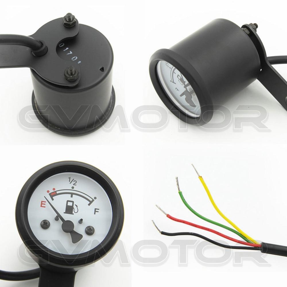 Led Fuel Gauge Wiring Electrical Diagrams Auto Diagram Aliexpress Com Buy Vintage Classic 4 Wires Waterproof Black