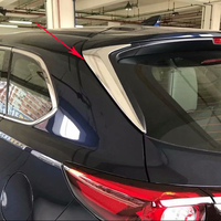 For Mazda CX 9 CX9 2016 2017 2018 ABS Chrome Exterior Accessories Rear Window Side Triangle Decoration Cover Trim Styling 2PCS