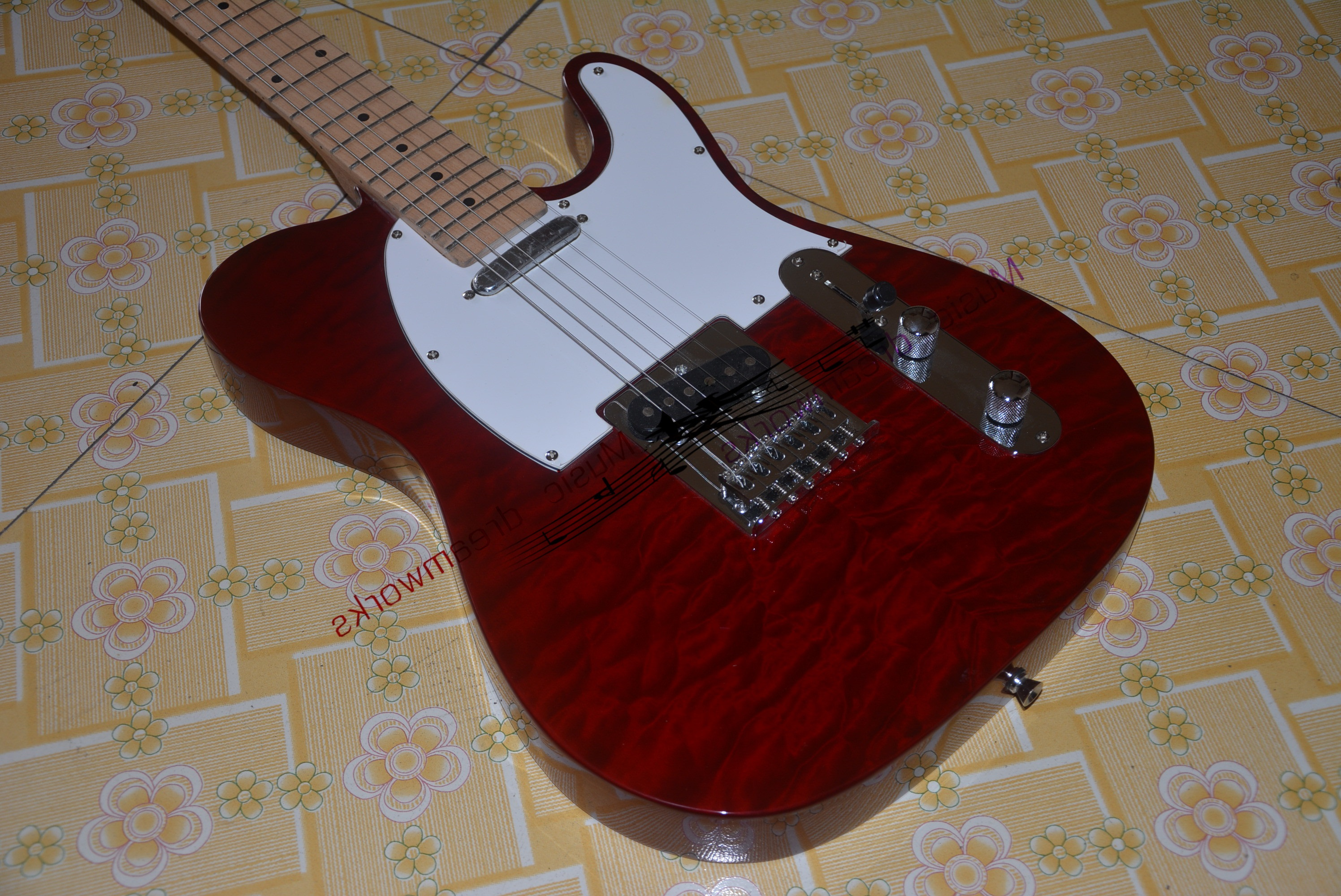 China OEM firehawk guitar Left hand and right hand high quality beautiful T l Electric Guitar EMS Free shipping image