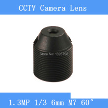 CCTV lenses 1.3MP 1/3 HD 6mm pinhole surveillance camera 60 degrees infrared M7 lens thread