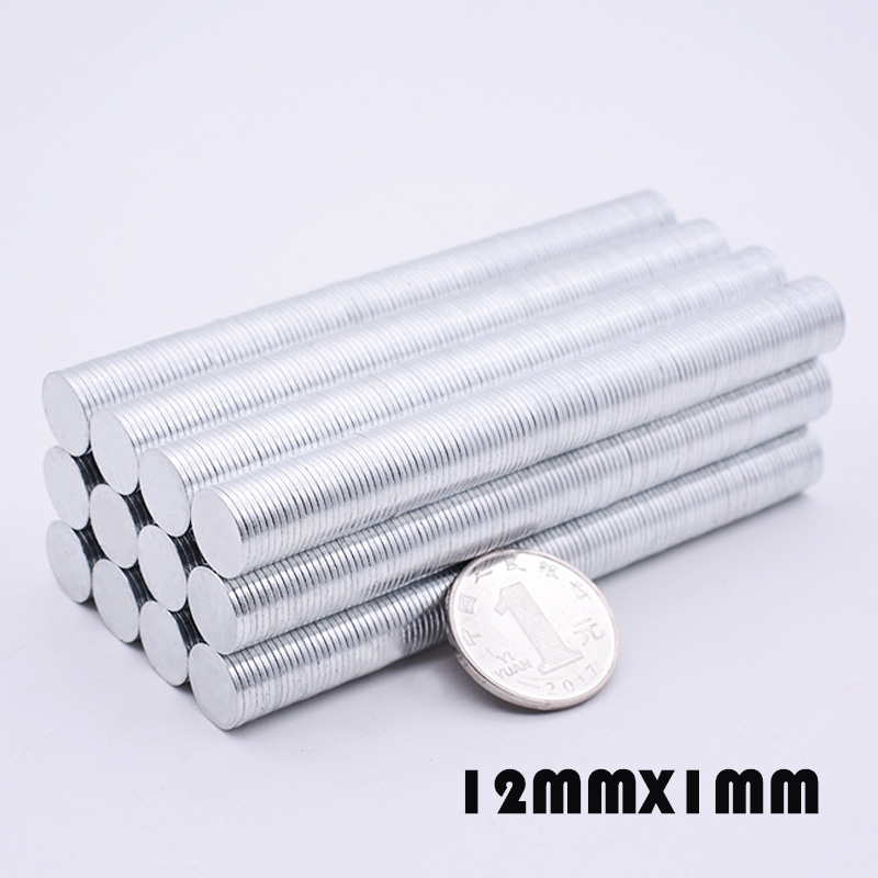 50 150Pcs 12x1mm N35 Neodymium Magnet Disc 12mm x 1mm Permanent NdFeB Small Round Super Powerful Magnetic Magnets For Craft in Magnetic Materials from Home Improvement