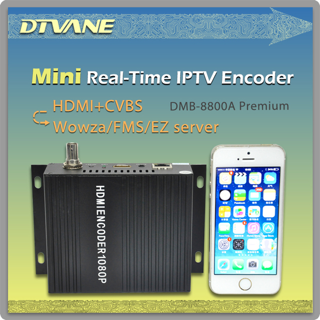 US $419 5 |DMB 8800A Premium Popular Mini HD RTMP Encoder IPTV H 264  Streaming Encoder HDMI TO IP Encoder With RTMP UDP RTSP HTTP Out-in Radio &  TV