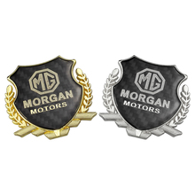 Auto Styling Carbon Fiber Car Sticker MORGAN MOTORS Logo TF ZR ZS MG 3 5 6 7 Morris 3 SUV 3SW 3D Emblem Badge Decoration morgan mg 003s fm